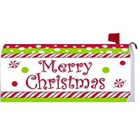 Merry Christmas Candy Cane Magnetic Mailbox Cover