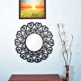 Wall Hanging Mirror Frame In Black Color By Furniselan - B072SQL4Q5