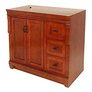 foremost fmnaca3621d naples 36 inch bath vanity cabinet