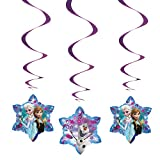 Disney Frozen Hanging Swirl Decorations, 3ct