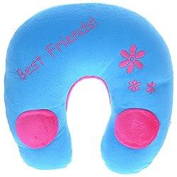 Twisha U Neck Pillow With Speaker Blue / Pink 6 X 11 X 12 Inch
