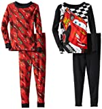 Komar Kids Little Boys' Cars 2 Long Sleeve Disney 2 Piece Pajama Set