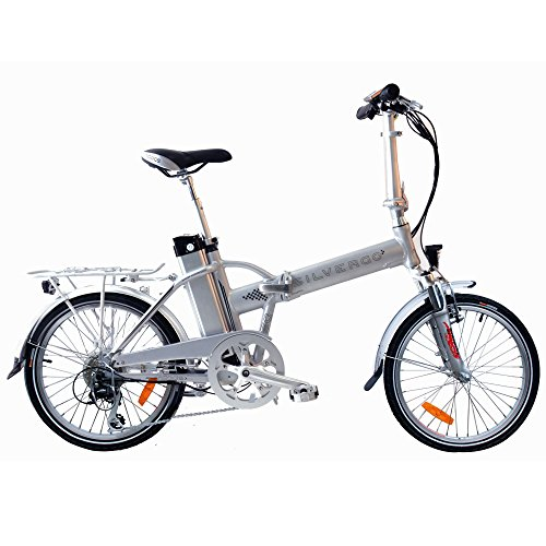 agogs silvergo 20pollici ruota bicicletta elettrica pieghevole City con cornice in alluminio bafang Type di H, 36V/250W motore (500W Max) Sony Konion V3Hi-Power 36V/11AH 530WH XL batteria ricaricabile microsnift mezzo 8marce E-Bike Pedelec