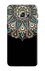 KanvasCases Printed Back Cover for Samsung Galaxy S6 Edge Plus + Free Earphone Cable Organizer