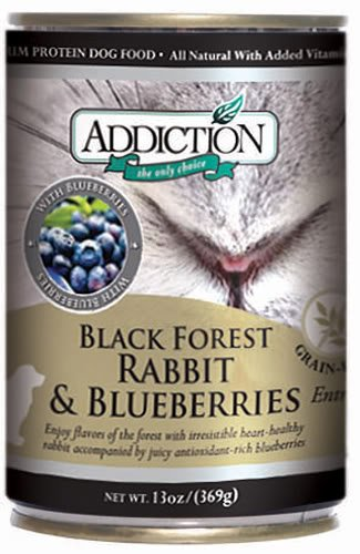 Addiction Black Forest Rabbit with Blueberries Grain-Free Canned Dog Food (24/13 Ounce Cans) (Addiction Canned Dog Food compare prices)