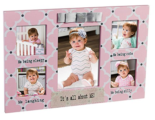 Everyday All About Me Pink Quatrefoil Wood Picture Frame