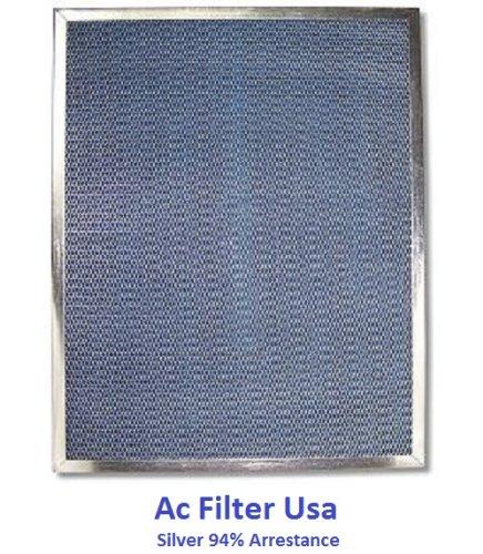 10X25X1 Electrostatic Ac Furnace Air Filter Silver 82% Arrestance. Lifetime Warranty. Never Buy A New Filter