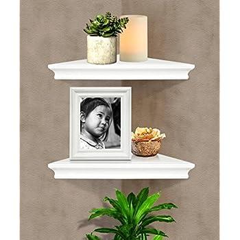 SHELVING SOLUTION Corner Wall Shelf (White)