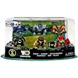 Exclusive Ben 10 Super Deformed Action Figure Set 1 6-pack (Ben Rook Khyber Bloxx Feedback Shocksquatch)