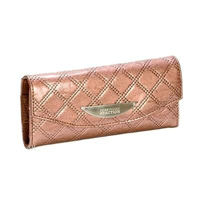 Kenneth Cole Bronze Clutch Diamond Wallet