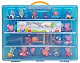 Peppa Pig Tm Compatible Organizer My Peppa Pig Pen Is The Perfect Peppa Pig Tm Compatible Storage Box Stores Up To 30 Peppa Pig Toys Large Sturdy Case And Carrying Handle (Blue)