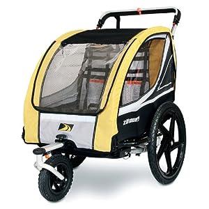 Amazon.com: ZUMU 3-in-1 Bike Trailer Jogger & Stroller for 2 Kids (up