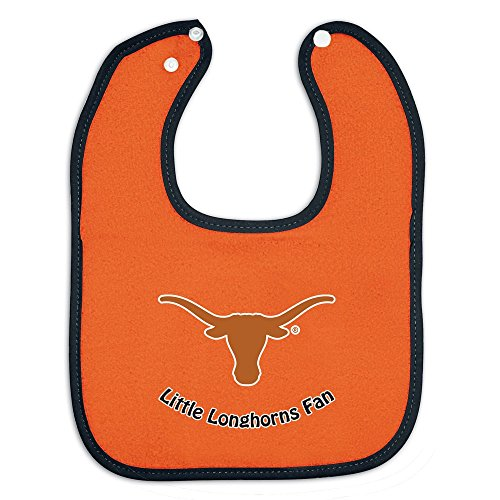 Texas Longhorns Sports Team Logo Full Color Infant Newborn Baby Snap Bib Single front-699818