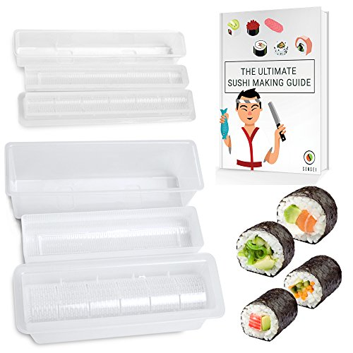 ULTIMATE SUSHI MAKING KIT - The Easiest Way to Make PERFECT Restaurant Quality Sushi at Home - For Large or