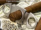 Poziteev Cigar Cutter - Sharp Double Blade & Great for Most Size of Cigars