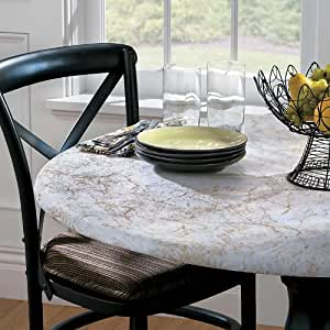 Oval Elasticized Table Cover - Mosaic Gold