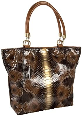 Jalda Python Color Jane Tote,Camel,one size