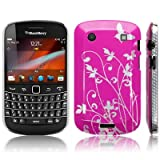 BLACKBERRY BOLD 9900 FLOWER AND BUTTERFLY BACK COVER CASE / SHELL / SHIELD - PINK PART OF THE QUBITS ACCESSORIES RANGEby CallCandy