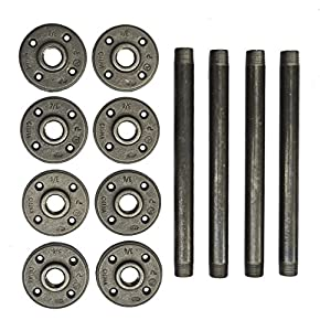 Industrial pipe table legs 10 inch 4 pack for 10 inch table legs