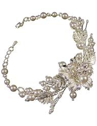 Grace Wedding Bracelet (Silver/White) (e2056bs)