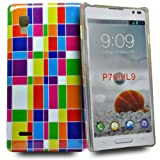 Phonedirectonline - Multi 'colour plat' design hard case cover for lg optimus l9 p760