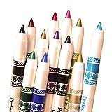 SHINA アイライナー アイブロウペンシル 化粧美容用 アイライナーペン アイライン/リップ アイシャドウペン 12カラー 12本セット