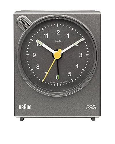 Braun Voice Activated Alarm Clock, Grey