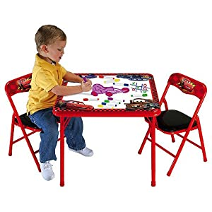 disney pixar 39 s cars the movie erasable activity table and chairs childrens furniture. Black Bedroom Furniture Sets. Home Design Ideas