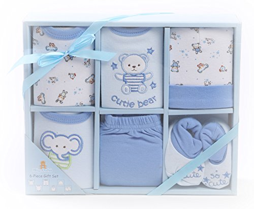 Great Deal! Big Oshi Layette Baby Gift Set, 6 Piece - Diaper Gift Boxed - Ready To Go - Perfect Baby...