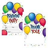Balloon Fun Invitations And Thank You Postcards