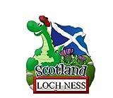 Fridge Magnet Resin Scotland Loch Ness Nessie and Flag