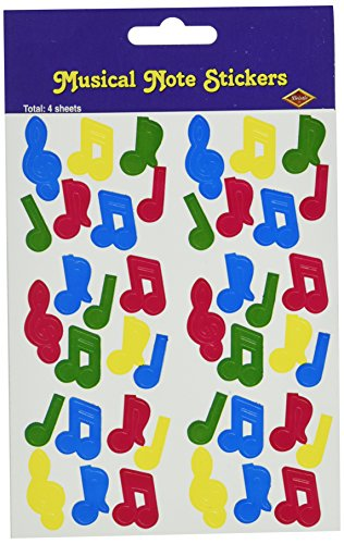 Musical Note Stickers (multi-color)    (4 Shs/Pkg)