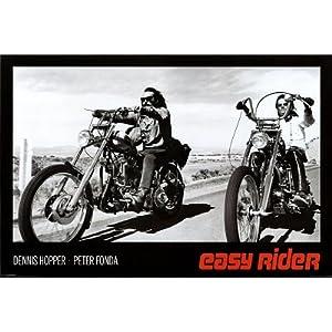 Easy Rider - Dennis Hopper & Peter Fonda on Motorcycles Movie Poster