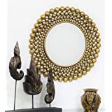 Venetian Design Round Copper Finish Wall Mirror - B013OZ4YQ8