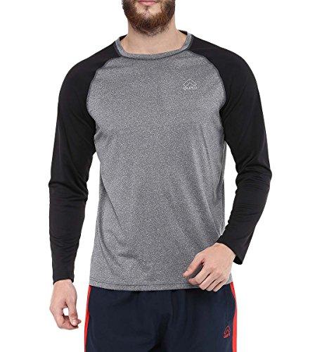 Aurro-Sports-Grey-CC-Crew-LS-Mens-T-Shirt-Size-M