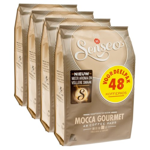 Order Senseo Mocca Gourmet, Design, Pack of 4, 4 x 48 Coffee Pods by Douwe Egberts