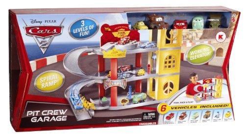Disney Pixar Cars 2 Movie Exclusive Playset Pit Crew Garage Best