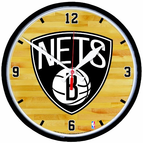 NBA Brooklyn Nets Round Clock