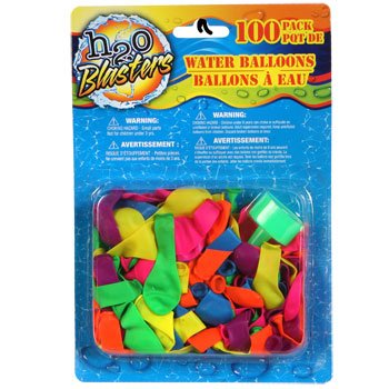 H2O Blasters Water Balloons, 100-ct. Packs (Assorted Colors) - 1