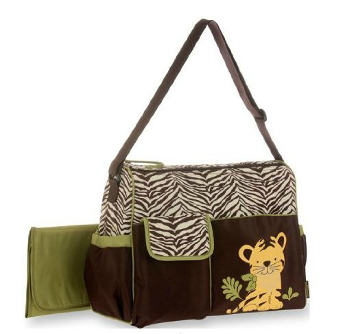 Baby Boom Tiger Applique Duffle Diaper Bag - 1