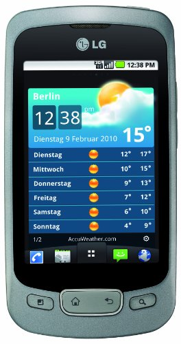 LG P500 OPTIMUS One Smartphone (Android 2.2, 3 MP Kamera, 8,1 cm (3,2 Zoll) Touchscreen, 2GB Speicherkarte, 3,5mm Klinkenbuchse) silver / chrome