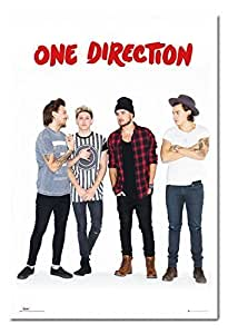 Amazon.com - One Direction Without Zayn Portrait Poster White Framed