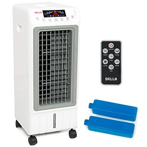 Portable Evaporative Air Cooler Ionizer Humidifier Remote Tower Fan Cooling LCD (7 Gallon Humidifier compare prices)