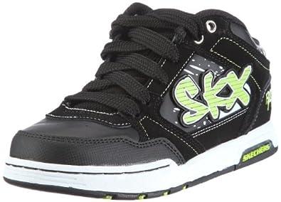 Skechers EndorseAsher 91844L Jungen Sneaker, Schwarz (BKLM), EU 27