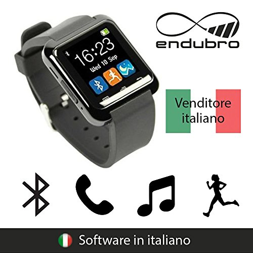 endubro SMARTWATCH U8 OROLOGIO ANDROID DIGITALE TOUCHSCREEN BLUETOOTH - MENÙ IN ITALIANO PER SAMSUNG, HTC, HUAWEI, ZTE, LG, HTC, Ecc.