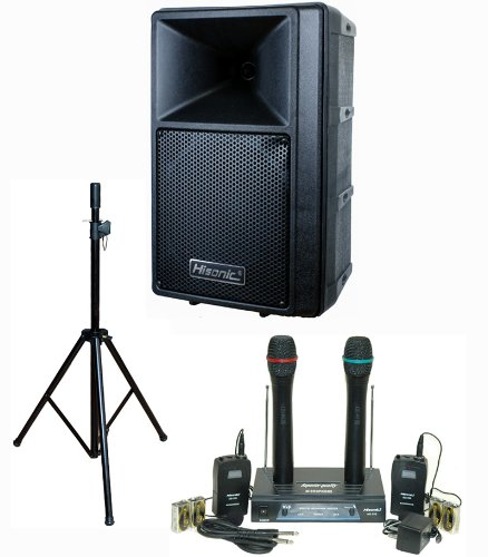 Hisonic Pa-683S 240-Watt Portable Pa System With Dual Vhf Wireless Microphone System