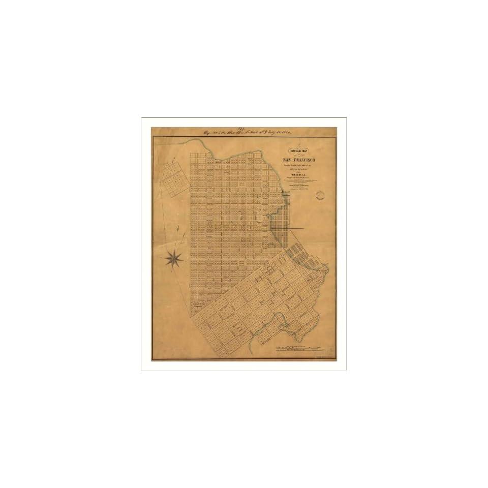 Historic San Francisco, California, c. 1849 (L) Panoramic Map Poster Print Reprint Giclee