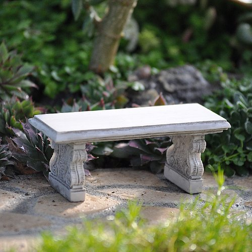 Miniature Stone Bench