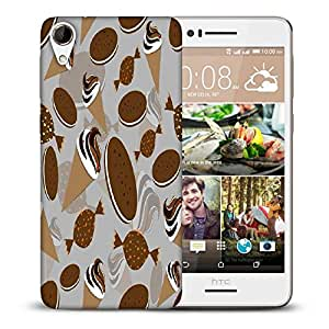 Snoogg Pattern White In Blue Printed Protective Phone Back Case Cover For HTC Desire 728