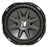 "Package: Kicker 10CVX12-4 Ohm Round 12"" Subwoofer with 1500 Watt Peak and 750 Watt RMS + Kicker CX600.1 1200 Watt Peak/600 Watt RMS Mono Block Amplifier Class D Car Amplifier"